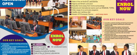 School Admission flier for 2020/2021